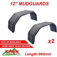 Trailer Mudguard 12'' PAIR 4 FOLD CHECK PLATE Trailer Ute Truck Parts