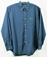 Lyle & Scott XL Shirt Long sleeve button front 80's 2 ply Cotton plaids checks