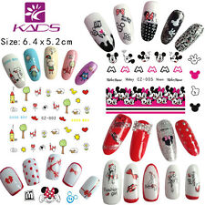 10 Sheets/Lot Cute Cartoon Nail Art Stickers Water Transfer Decals CZ001-010