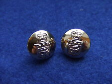 A PAIR, ROYAL ARMY ORDNANCE CORPS 14MM GOLD CAP/BLAZER SLEEVE BUTTONS