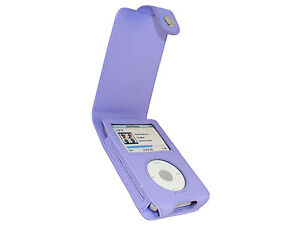 Purple Leather Case Cover for Apple iPod Classic 80gb 120gb 160gb 6th Generation