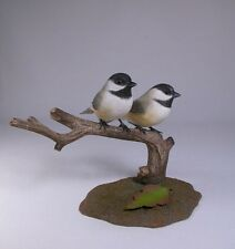 Pair of Chickadees  Backyard Bird Carving/Birdhug