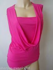 ☆ BNWT NEW Ladies Hot Pink Slouch Neck Stretch Top UK 10 EU 38 ☆