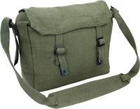 Mens Army Surplus Military Canvas Travel Shoulder Messenger Bag Satchel Green