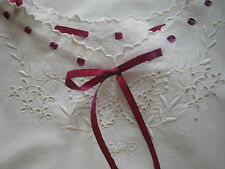 ANTIQUE FRENCH NIGHTDRESS - Monogrammed - Pure Cotton - Lovely Embroidery