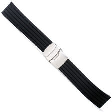 20mm High Quality Black Silicone Rubber Watch Band Strap rd2099