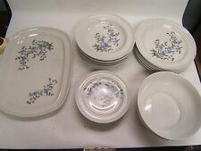 Vintage Henneberg Porzellan German Porcelain China 20 Pieces White Floral VGC