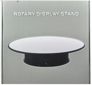 12 Inch Rotary Display Stand For 1/18 1/24 1/64 1/43 Model Cars With Mirror Top