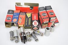 Large lot of electron tubes and covers - 6JT8 25L6GT 6AX4GTB 930 25L6GT 7N7 6J5