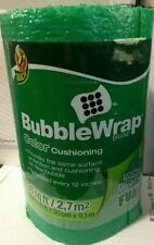 """Duck Brand Green 30' Length x 12"""" Wide, Color Cushioning Bubble Wrap, Perforated"""