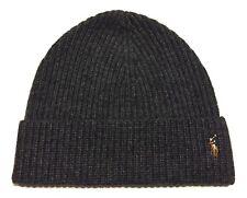 Polo Ralph Lauren Beanie Winter Hat Cap Wool NYLON COAL HEATHER GREY NEW BEANY