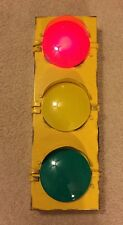 Traffic Large Metal Light Home Decor Man Cave Game Room Rail Road Garage Signal