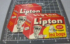 Vintage Lipton Tea Bags Sewing Needle Book, great graphics & colors, very good