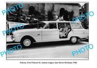 OLD 6 x 4 PHOTO 1963 FORD FALCON XL STATION WAGON BRISBANE