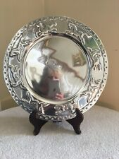 Round Pewter Platter With Running Horses All Around New