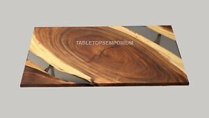 Handmade Amazing Waterfall walnut Tree Pearl Epoxy Table Metallic Epoxy Decor