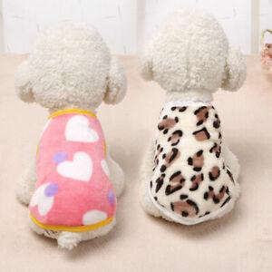 Pet Velvet Vests Leopard Printed Vest Cute Comfortable Dog Clothes Puppy Clothes