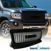 For 2015-2018 GMC Canyon Front Bumper Hood Grille Black Coated Grill Pickup