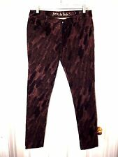 Princess Vera Wang Born To Rule Feather Print Skinny Jeans--size 9