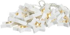 10er LED Lichterkette Sternenkette Shabby Chic Still Sterne Lichterkette Vintag