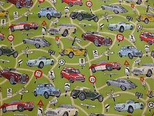 Nutex fabric called 'clasic cars - all over design' 100%cotton
