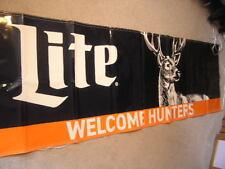 "34"" x 117"" Miller Lite Welcome Hunters Beer Banner Deer Orange Rifle"