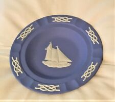 Wedgwood Blue Jasperware Ashtray – Nautical – Nwot
