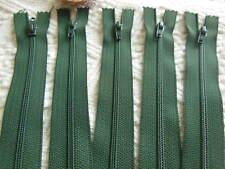 set de 5 cremallera 20 cm verde no separables A63 creación funda