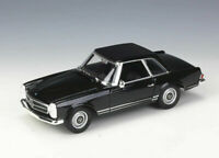 Welly 1:24 1963 Mercedes Benz 230SL Black Diecast Model Car New in Box