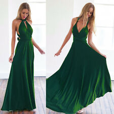 UK Womens Formal Long Chiffon Prom Evening Party Bridesmaid Wedding Maxi Dress