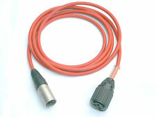 Tuchel Adapter Kabel Großtuchel - XLR 2m Mikrofonkabel rot Sennheiser MD421 etc.