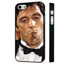 Scarface Tony Montana cigarro Al Pacino negro funda de teléfono tapa se ajusta iPHONE