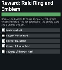 **Guaranteed Raid pack, Ring and Emblem Triumph Xbox one**