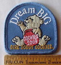 Girl Scout 2003 COOKIE PATCH - DREAM BIG Teddy Bear Cookie Jar Selling Badge