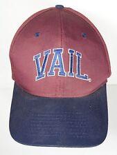 Vtg 1990s VAIL COLORADO Ski Mountain Resort Souvenir Advertising SNAPBACK HAT
