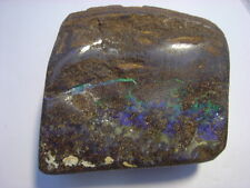 Bolder Opal Specimen From Queensland polished Australian Opal table stand holder