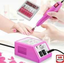 Electric Nail File Drill Manicure Machine Art Acrylic Pedicure Tool Set Kit