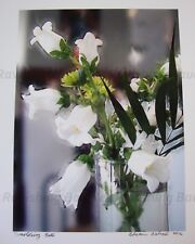 """Smoldering Bells"" White Flowers Original Photography SIGNED 2016 Botanical"