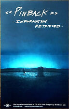 Pinback Information Recieved Ltd Ed Rare New Poster +Free Indie Rock Pop Poster!