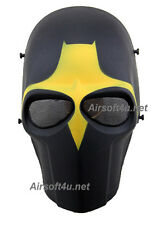 Wire Mesh Army In Yellow Full Face Protection Cosplay Airsoft Mask