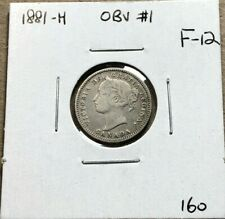 Canada 1881 Silver 10 Cents Obverse 1