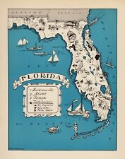 America Map Florida.Florida Contemporary Antique North America Maps Atlases For Sale