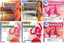 6 used LATIN KARAOKE CDG CDs LOT Pop,Tejano,Julio Iglesias,Ricky Martin,Lou Bega