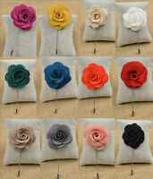 Men Brooch Pin Suit Lapel Flower Camellias Boutonniere Stick Men Accessory 1pcs