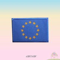 EUROPE National Flag Embroidered Iron On Patch Sew On Badge Applique