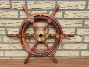 Vetus Steuerrad Boot Schiff Steuer Ruder maritim Nautik Holz Mahagoni Lenkrad