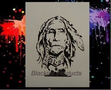 Indian Chief 05 Airbrush Stencil, Template