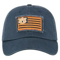 Auburn Tigers Hat Team Cap Adjustable Strap One Size Fits Most With Logo Flag