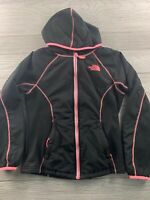 TNF The North Face Puffy Girls Full Zip Jacket Color Black Size Med 10/12