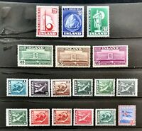 ICELAND Stamp Collection #209-211, #213-215, #217-228 MH/Used